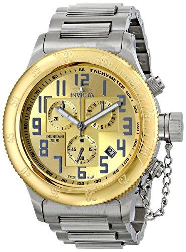 インビクタ 時計 インヴィクタ メンズ 腕時計 Invicta Men's 15554 Russian Diver Analog Display Swiss Quartz Silver Watch