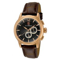 InvictaS.CoifmanMulti-FunctionRoseDialBrownLeatherMensWatchSC0265