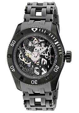 インビクタ 時計 インヴィクタ メンズ 腕時計 Invicta Men's 1264 Sea Spider Mechanical Skeleton Dial Black Polyurethane Watch