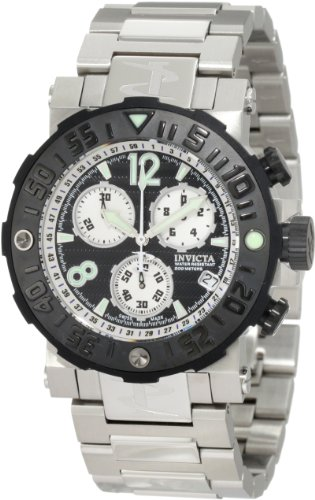インビクタ 時計 インヴィクタ メンズ 腕時計 Invicta Men's 10585 Reserve Sea Rover Chronograph Black Dial Stainless Steel Watch