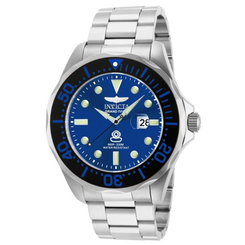 a1311f2ab891 ... リング   インガーソル   スレンダートーン   インビクタ 時計 インヴィクタ メンズ 腕時計 Invicta Grand Diver  Blue Dial Stainless Steel Mens Watch 14655