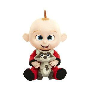 インクレディブル・ファミリー グッズ ミスターインクレディブル ジャック ジャック フィギュア 人形 おもちゃ ぬいぐるみ The Incredibles 2 Jack-Jack Plush-Figure Features Lights & Sounds and comes with Raccoon Toy