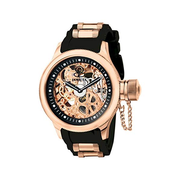 インビクタ 腕時計 INVICTA インヴィクタ 時計 ロシアンダイバー Invicta Men's 1090 Russian Diver Rose Gold-tone Stainless Steel Skeleton Watch