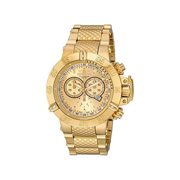 インビクタ 腕時計 INVICTA インヴィクタ 時計 サブアクア Invicta Men's 14500 Subaqua Noma III Chronograph Gold Dial 18k Gold Ion-Plated Stainless Steel Watch