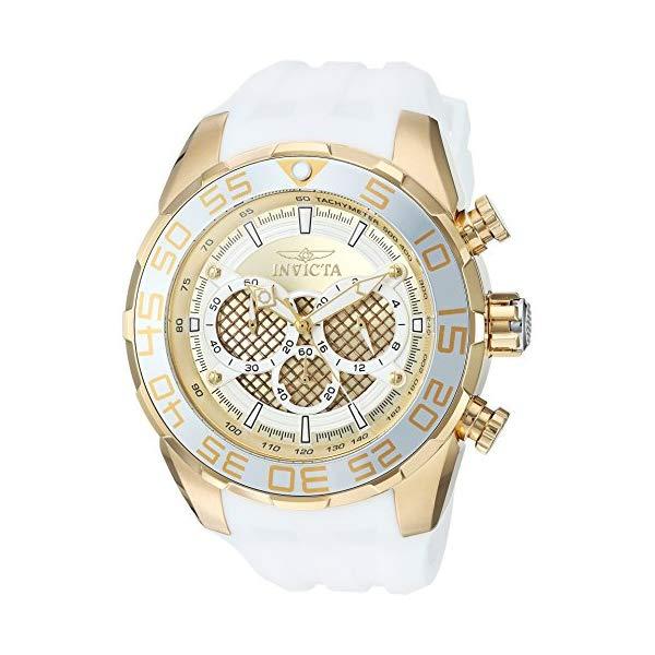 インビクタ 腕時計 INVICTA インヴィクタ 時計 スピードウェイ Invicta Men's 'Speedway' Quartz Stainless Steel and Silicone Casual Watch, Color:White (Model: 26303)