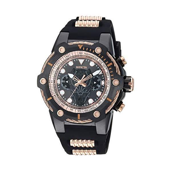 インビクタ INVICTA インヴィクタ 腕時計 ウォッチ MARVEL 26922 マーベル ブラックパンサー メンズ 男性用 Invicta Men's Marvel Stainless Steel Quartz Watch with Silicone Strap, Black, 26.7 (Model: 26922)