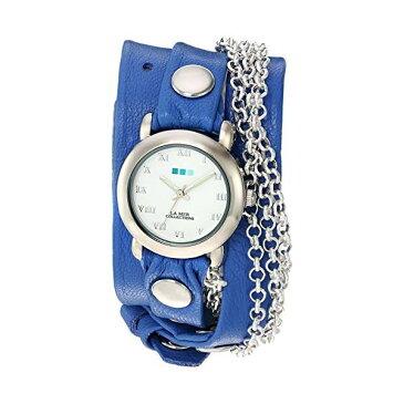 ラメール コレクションズ 腕時計 La Mer Collections LMMULTI201639 レディース ウォッチ 女性用 La Mer Collections Women's 'Triple Silver Chain' Quartz Tone and Leather Watch, Color:Blue (Model: LMMULTI201639)