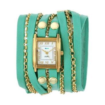 ラメール コレクションズ 腕時計 La Mer Collections LMCLIFTON002 レディース ウォッチ 女性用 La Mer Collections Women's LMCLIFTON002 Mint Gold Clifton Square Case White Dial 14k Gold-Plated Jewelry Chains Watch