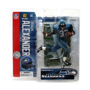 """マクファーレン トイズ NFL アメフト アクション フィギュア ダイキャスト McFarlane Toys 6"""" NFL Series 14 - Shaun Alexander Blue Jersey"""