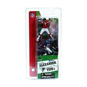 マクファーレン トイズ NFL アメフト アクション フィギュア ダイキャスト McFarlane Toys NFL 3 Inch Sports Picks Series 2 Mini Figure 2Pack Michael Vick (Atlanta Falcons) Shaun Alexander (Seattle Seahawks)