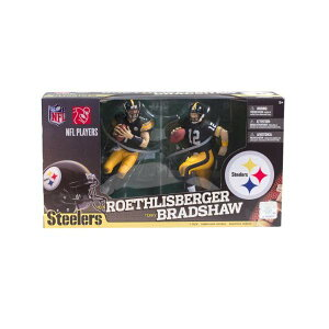 マクファーレン トイズ NFL アメフト アクション フィギュア ダイキャスト McFarlane NFL Pittsburgh Steelers 2012 Terry Bradshaw and Ben Roethlisberger Collector's Edition Action Figure 2-Pack