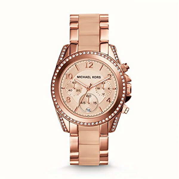マイケルコース Michael Kors レディース 腕時計 時計 Michael Kors MK5943 Ladies Blair Rose Gold Plated Chronograph Watch