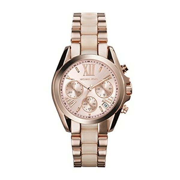 マイケルコース Michael Kors レディース 腕時計 時計 Michael Kors MK6066 Ladies Bradshaw Chronograph Rose Gold Watch