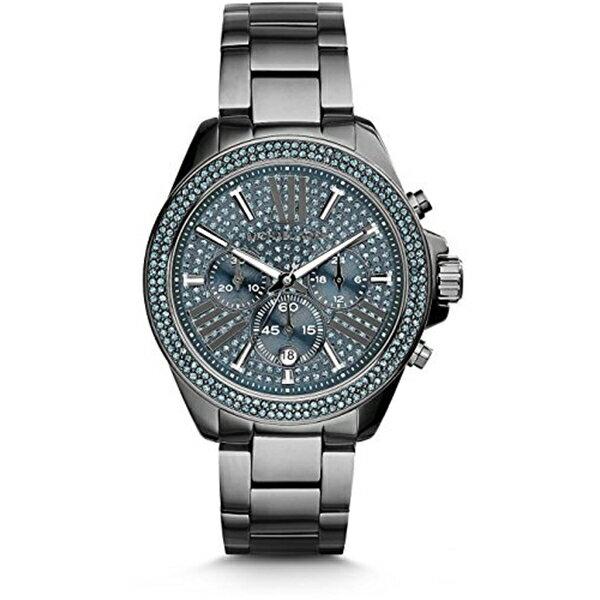 マイケルコース Michael Kors レディース 腕時計 時計 Michael Kors Wren Chronograph Blue Crystal Pave Dial Gunmetal Ion-plated WOMENS Watch MK6097:i-selection