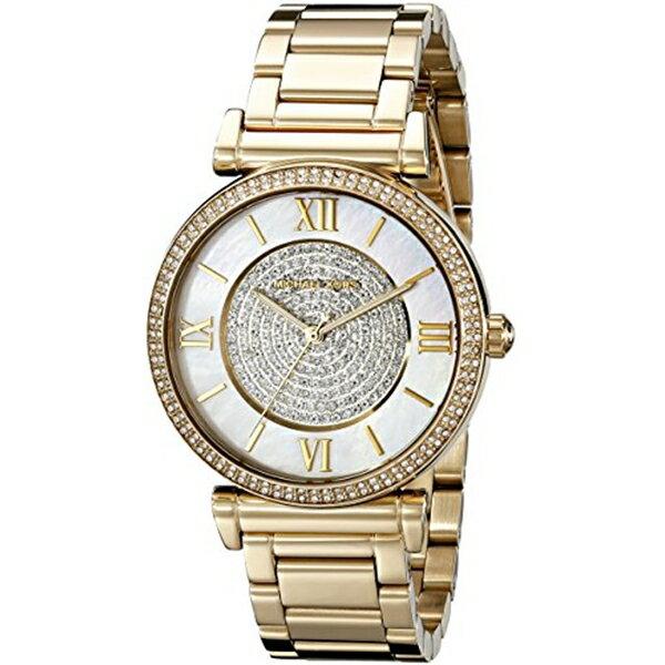 マイケルコース Michael Kors レディース 腕時計 時計 Michael Kors Women's Catlin Gold-Tone Watch MK3332