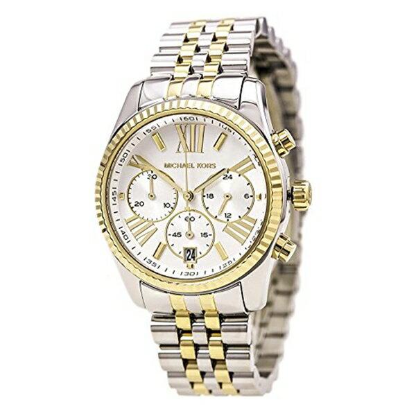 マイケルコース Michael Kors レディース 腕時計 時計 Michael Kors Women's Two Tone Lexington Watch, Silver/Gold, One Size