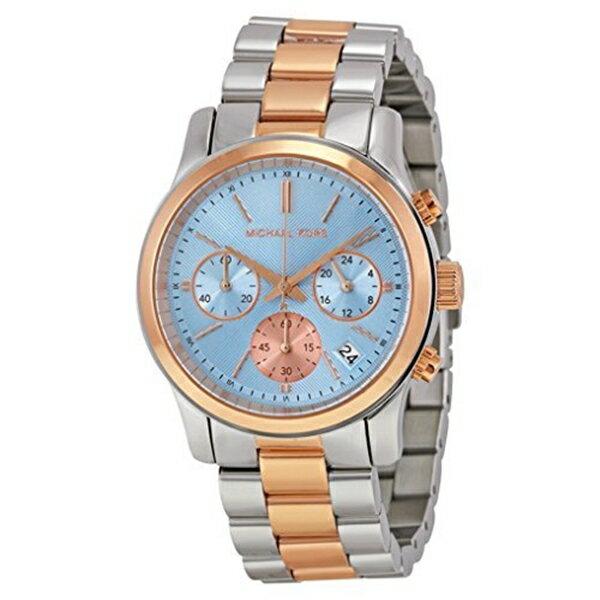 マイケルコース Michael Kors レディース 腕時計 時計 Michael Kors Women's Runway Watch, Silver/Rose Gold/Chambray, One Size