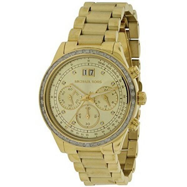 マイケルコース Michael Kors レディース 腕時計 時計 Michal Kors Brinkley Gold-Tone Dial SS Chronograph Quartz Ladies Watch MK6187