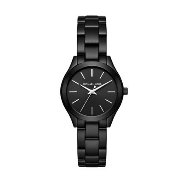 マイケルコース Michael Kors レディース 腕時計 時計 Michael Kors Women's Mini Slim Runway Black Watch MK3587
