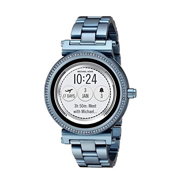 マイケルコース 時計 スマートウォッチ 腕時計 レディース 女性用 MKT5042 Michael Kors Access Women's 'Sofie Touchscreen' Quartz Stainless Steel Casual Watch, Color:Blue (Model: MKT5042)