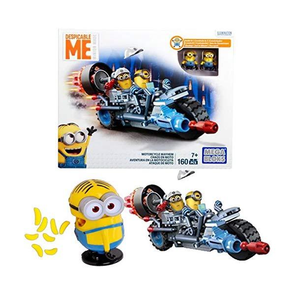 ブロック, セット  GBBD Mega Bloks Despicable Me Motorcycle Mayhem Building Kit with Bonus Me Minion Made Big Mouth Banana Candy Dispenser