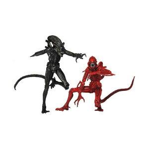 """エイリアン アクション フィギュア 人形 ネカ NECA Aliens """"Genocide"""" Black Warrior vs. Red Warrior Action Figure (2-Pack), 7"""""""