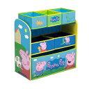ペッパピッグ おもちゃ 収納 おもちゃ箱 お片付け トイハウスラック スリム ラック 棚 収納 キッズ ボックス 子供 部屋 おしゃれ 入学祝 入園祝 卒園祝 お誕生日 プレゼント Delta Children 6-Bin Toy Storage Organizer, Peppa Pig