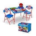 マーベル アベンジャーズ キッズデスク キッズチェア デスクセット 勉強机 学習机 子供机 収納ボックス お片付け おもちゃ箱 入学祝 入園祝 卒園祝 お誕生日 プレゼント 自宅学習 Delta Children 4-Piece Kids Furniture Set Marvel Avengers