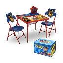 パウパトロール キッズデスク キッズチェア 子供椅子 デスクセット 勉強机 学習机 子供机 収納ボックス お片付け おもちゃ箱 入学祝 入園祝 卒園祝 お誕生日 プレゼント 自宅学習 Delta Children 4-Piece Kids Furniture Set, Nick Jr. PAW Patrol