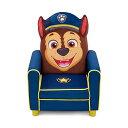 パウパトロール キッズチェア ソファ ローチェア 子供椅子 キッズソファ 入学祝 入園祝 卒園祝 お誕生日 プレゼント 自宅学習 Delta Children Figural Upholstered Kids Chair, Nick Jr. PAW Patrol Chase, Blue