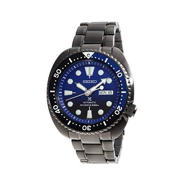 腕時計, メンズ腕時計  SEIKO 87636119 SEIKO PROSPEXTurtle Save The Ocean Divers 200M Automatic Black IP Watch Blue Dial SRPD11K1