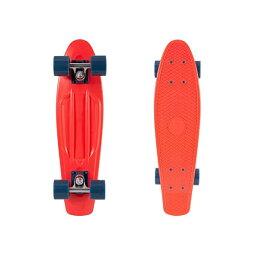 """スケートボード スケボー クルーザー コンプリート レトロスペック 直輸入 海外モデル Retrospec Quip Skateboard 22.5"""" Classic Retro Plastic Cruiser Complete Skateboard with Abec 7 bearings and PU wheels, Red & Navy (3167)"""
