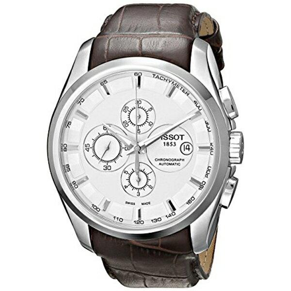 ティソ Tissot 腕時計 メンズ 時計 Tissot Men's T0356271603100 Couturier White Chronograph Dial Watch