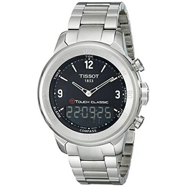 ティソ Tissot 腕時計 メンズ 時計 Tissot Men's T0834201105700 T-Touch Classic Analog-Digital Display Swiss Quartz Silver Watch