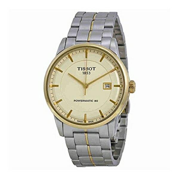 ティソ Tissot 腕時計 メンズ 時計 Tissot Men's T0864072226100 Luxury Analog Display Swiss Automatic Two Tone Watch