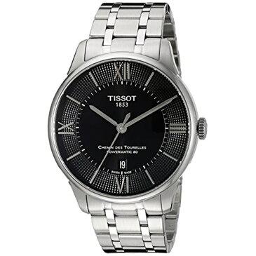 ティソ Tissot 腕時計 メンズ 時計 Tissot Men's T0994071105800 Chemin Des Tourelles Powermatic 80 Analog Display Swiss Automatic Silver-Tone Watch