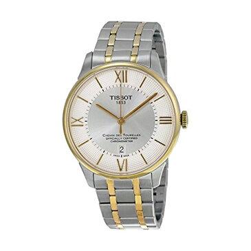 ティソ Tissot 腕時計 メンズ 時計 Tissot Chemin Des Tourelles Automatic Silver Dial Two-tone Mens Watch T099.408.22.038.00