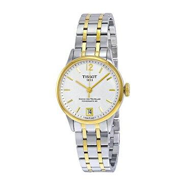 ティソ Tissot 腕時計 メンズ 時計 Tissot T-Classic Chemin Des Tourelles Automatic White Dial Two-Tone Stainless Steel Mens Watch T0992072203700