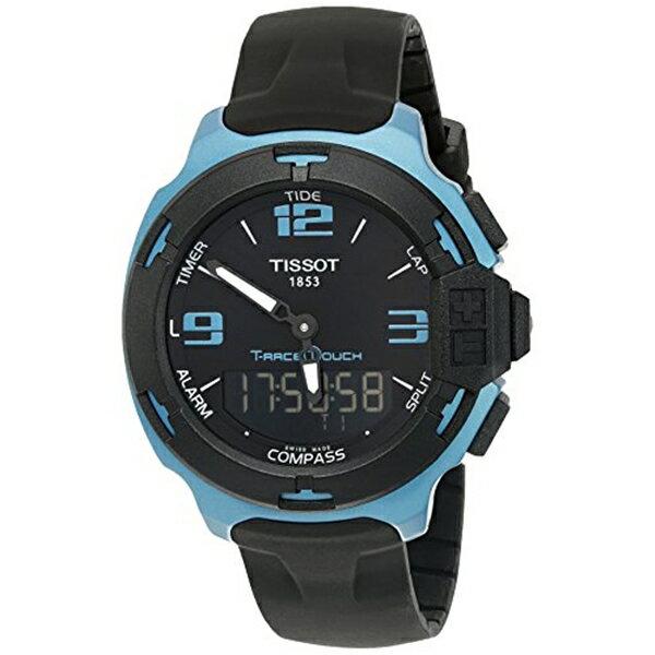 ティソ Tissot 腕時計 メンズ 時計 Tissot Men's 'T racing' Swiss Quartz Metal and Silicone Dress Watch, Color:Black (Model: T0814209705704)