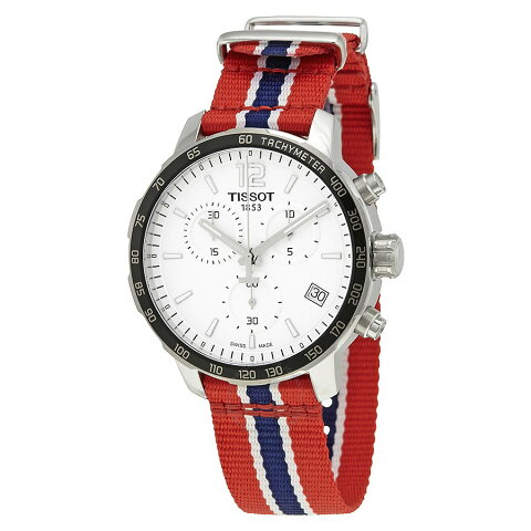ティソ Tissot 腕時計 メンズ 時計 NBA バスケットボール Tissot Quickster Washington Wizards Chronograph Mens Watch T0954171703732