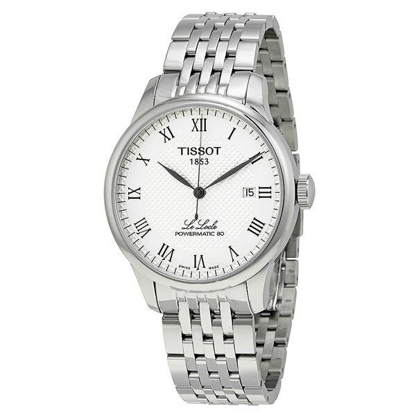 ティソ Tissot 腕時計 メンズ 時計 Tissot Powermatic 80 Silver Dial Stainless Steel Men's Watch T0064071103300