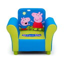 ペッパピッグ デルタ キッズ ソファー 子供用 ミニソファ 一人用 Delta Children Upholstered Chair, Peppa Pig
