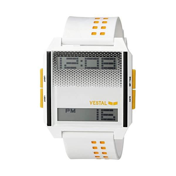 腕時計, 男女兼用腕時計  VESTAL DIG032 Vestal Japanese-Quartz Plastic Strap, White, 24 Casual Watch (Model: DIG032)
