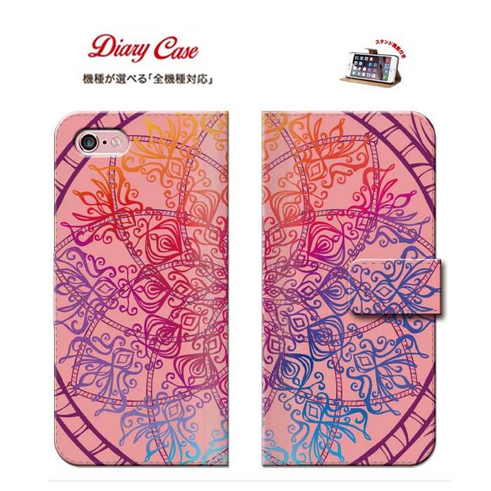 iPhone8 plus iphone7ケース ネイティブ ネイティヴ 柄 宇宙柄 宇宙 エスニック エスニック柄 ethnic 民族柄 ハワイアン 全機種対応 手帳型 ダイアリー スマホ ケース カバー 携帯 スマートフォン スマホケース 送料無料