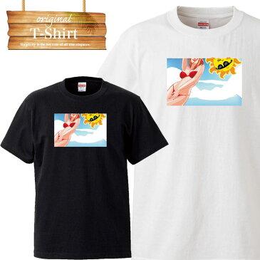 女性 女の人 綺麗な ビューティフル ビキニ 水着 ビーチ 海 beach beautifull Tシャツ プリント デザイン プランド アパレル 服 洋服 メール便 送料無料