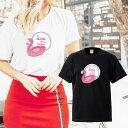 フラミンゴ flamingo ビーチ girl aloha アロハ ハワイ beach トロピカル summer 夏 hawaii 海 海水浴 プール マリン sea Tシャツ プリント デザイン プランド アパレル 服 洋服 メール便 送料無料