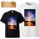 sunset life world サンセット 夕暮れ 夕日 ビーチ ピクチャー logo 写真 フォト フォトT Tシャツ プリント デザイン 洋服