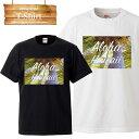sunset beach aloha hawaii ハワイ アロハ ハワイアン 木 風景 景色 ビーチ ピクチャー logo 写真 フォト フォトT Tシャツ プリント デザイン 洋服
