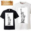 アメリカ アメリカ合衆国 USA united states of america ニューヨーク newyork 星条旗 自由の女神 ロゴ 写真 フォト フォトT Tシャツ プリント デザイン 洋服 t-shirt 白 黒 ホワイト ブラック