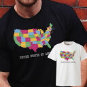 USA america アメリカ 地図 合衆国 ノースカロライナ ユタ テキサス フロリダ california カルフォルニア ロゴ 写真 フォト フォトT Tシャツ プリント デザイン 洋服 t-shirt 白 黒